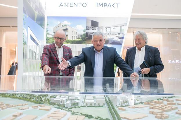MichelKnepper (Grossfeld), Flavio Becca (Promobe) et SergeEstgen (Promobe) poursuivent l'aménagement du nouveau quartier de la capitale. (Photo: Matic Zorman/Maison Moderne)