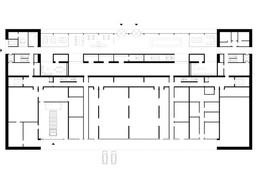 Plan de l'étage du rez-de-chaussée ((Illustration : Paul Bretz Architectes))