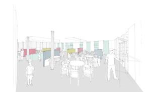 Les espaces sont ouverts et flexibles. ((Illustration:Decker, Lammar & Associés))