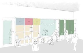 Les salles pourront aussi bien servir à l'école qu'à la maison relais. ((Illustration:Decker, Lammar & Associés))