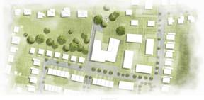 Le campus scolaire est situé au cœur du nouveau quartier résidentiel Lenkeschléi. ((Illustration:Decker, Lammar & Associés))