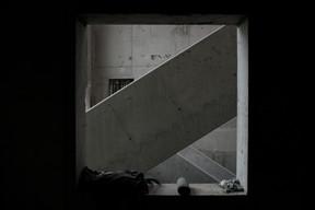 Vue de l'escalier. ((Photo: Matic Zorman/Maison Moderne))