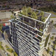 La tour accueillera des logements de grande taille, dont des triplex au sommet. ((Illustration: DidierPetitPrioux Architectes et Moreno Architecture & Associés))