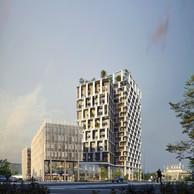 Le projet compte plusieurs immeubles de différentes tailles. ((Illustration: DidierPetitPrioux Architectes et Moreno Architecture & Associés))