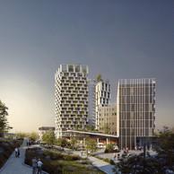 Le projet Gravity donnera un visage à l'entrée de Differdange. ((Illustration: DidierPetitPrioux Architectes et Moreno Architecture & Associés))