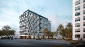 Le bâtiment se situe à la Cloche d'Or, juste en diagonale par rapport au centre commercial. ((Illustration: Moreno Architecture & Associés))