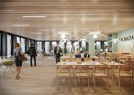 Le personnel profitera d'un espace de restauration. ((Illustration: Moreno Architecture & Associés))