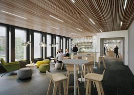 Un coffee corner confortable se prêtera bien aux discussions informelles. ((Illustration: Moreno Architecture & Associés))