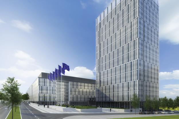Le Jean Monnet2 est un des plus gros chantiers en cours au Luxembourg. (Illustration: KSP Jürgen Engel Architekten)