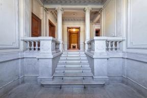 Vue du hall d'entrée de la villa. ((Photo: Jan Hanrion/Patricia Pitsch – archives Maison Moderne))