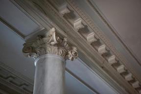 Détails du plafond du hall d'entrée. ((Photo: Jan Hanrion/Patricia Pitsch – archives Maison Moderne))