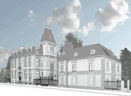 La villa Pétrusse fait l'objet d'une campagne de restauration et de transformation conçue par Jim Clemes Associates pour la Compagnie financière La Luxembourgeoise  (Illustration: Jim Clemes Associates)