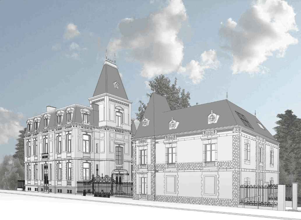 La Villa Pétrusse fait l'objet d'une campagne de restauration et de transformation réalisée par Jim Clemes Associates pour la Compagnie financière La Luxembourgeoise. (Illustration: Jim Clemes Associates)