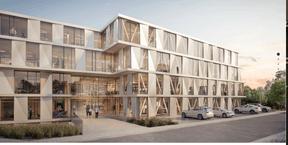 La façade sera très largement vitrée pour une entrée maximale de la lumière naturelle. (Illustration: Art & Build Architect)