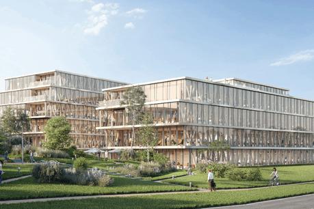 Le bâtiment Wooden sera construit avec une ossature en bois, une première au Luxembourg pour un bâtiment de cette envergure. (Illustration: Art & Build Architect)
