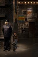 Les visiteurs s'amusent à reconnaître les scènes et personnages emblématiques des films. Ici, une scène issue de «The Kid». ((Photo: Eric Chenal))