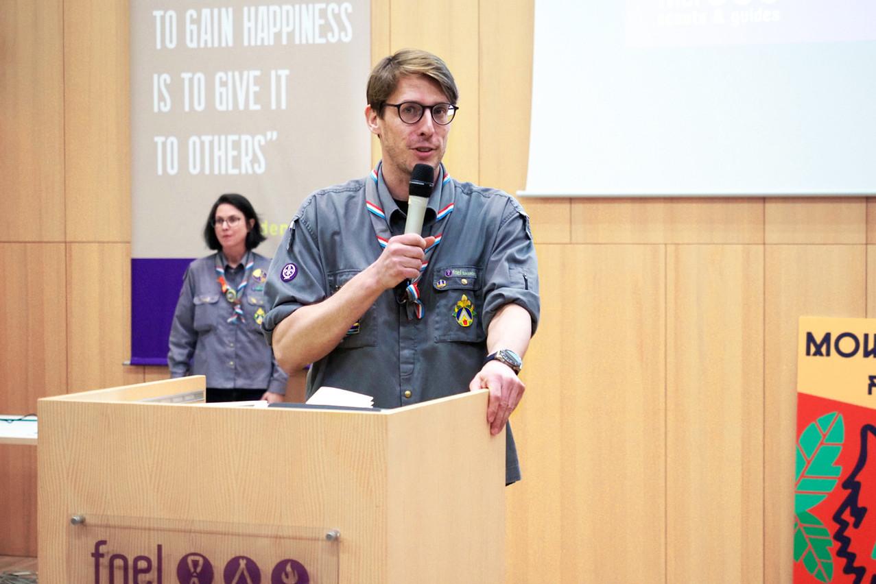 Raoul Wirion, commissaire général, Fédération nationale des éclaireurs et éclaireuses du Luxembourg. (Photo: Patrick Jénin)