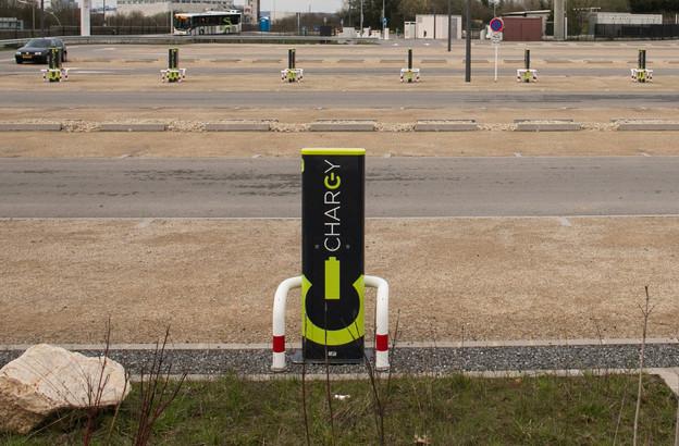 Les dernières inondations ont mis hors service 40 bornes de recharge Chargy sur 600, soit 6,6% du parc public. (Photo: Matic Zorman/archives)