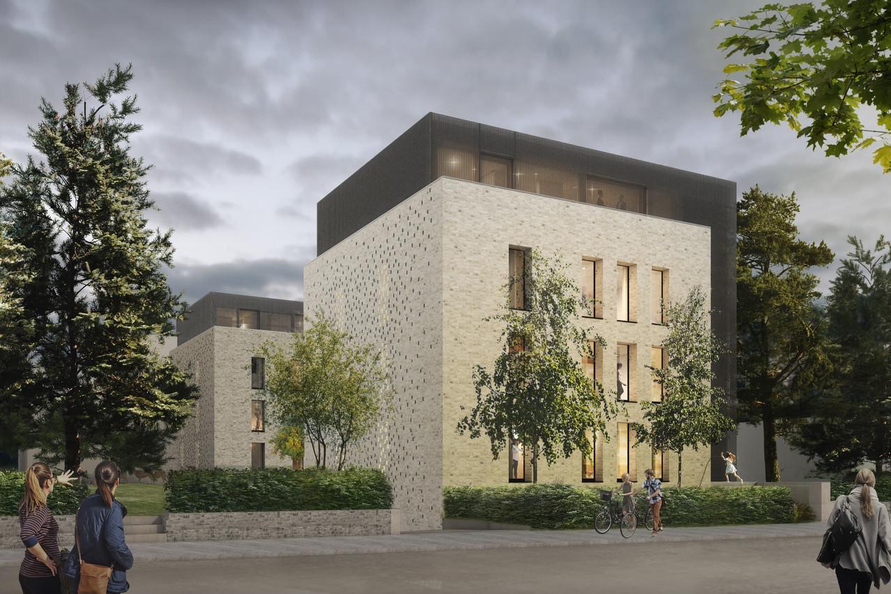 Les résidences «Les Charmes» sont conçues par Christian Bauer & Associés Architectes pour Seventyeight. (Illustration: CBA)