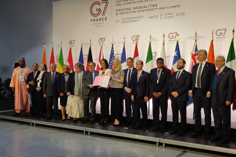 L'ensemble des pays du G7, ainsi que le Chili, les îles Fidji, le Gabon, le Mexique, le Niger et la Norvège, en présence de l'Égypte, ont adopté aujourd'hui la «charte de Metz sur la biodiversité». (Photo: @MetzMetropole)
