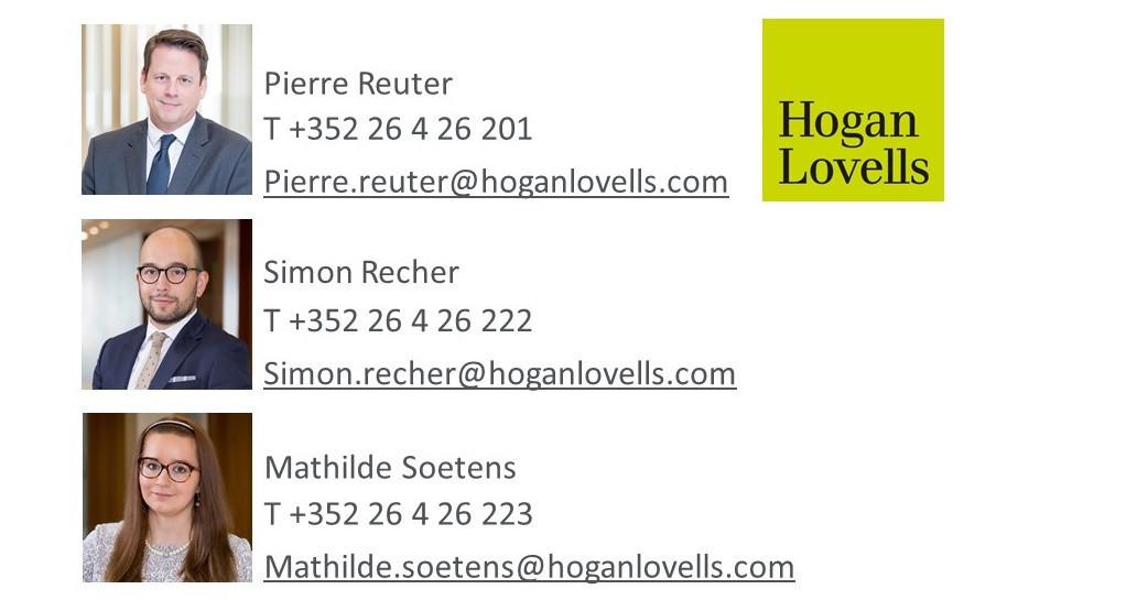 Pierre Reuter, Simon Recher, Mathilde Soetens Hogan Lovells