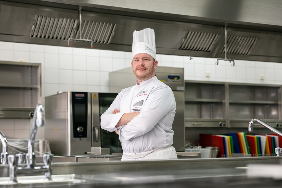 Michelin-starred chef Kim Kevin de Dood, pictured at the Luxembourg hotel and tourism school (EHTL) just days before his departure to Dubai in advance of the World Expo taking place there. Romain Gamba /Maison Moderne