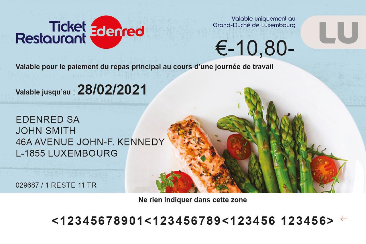 Le ticket-restaurant Edenred bénéficie à 23.500salariés au Luxembourg. (Photo: Edenred)