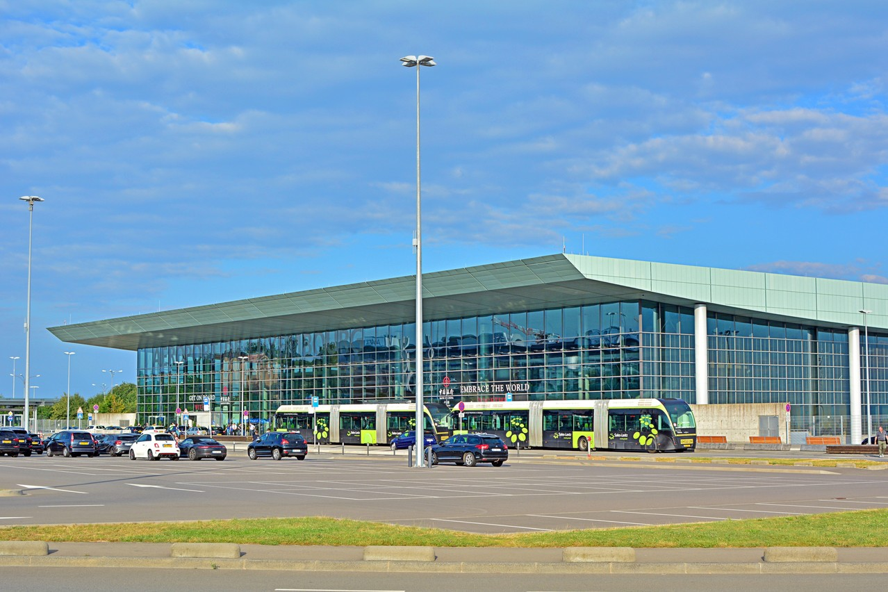 Modern passenger terminal building of the Luxembourg Airport (LUX) Martyn Jandula/Shutterstock.
