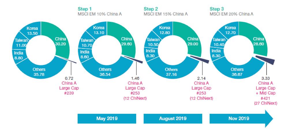 MSCI, données au 22 janvier 2019. Les chiffres indiqués sont tous approximatifs.