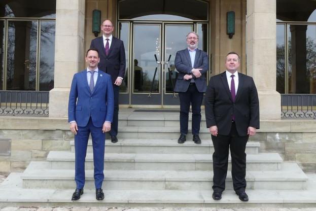 ChristopheSchiltz est devenu, à 42ans, le plus jeune président du Conseil d'État depuis la création de l'institution. (Photo: Conseil d'État)