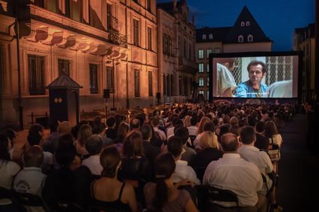 Une partie des projections aura lieu sur le parvis du palais grand-ducal. (Photo: Yann Tonnar pour la Cinémathèque)