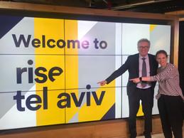 Pierre Gramegna, ministre des Finances, avec Michal Beinisch, CEO de Barclays Rise, lors d'une mission en Israël en mars 2019 pour développer des collaborations avec des fintech. ((Photo: MFIN))