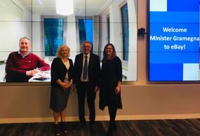 Visite du ministre au siège d'eBay, lorsd'une tournée dans la Silicon Valley pour promouvoir le Luxembourg comme hub européen de la fintech en avril 2019. ((Photo: MFIN))