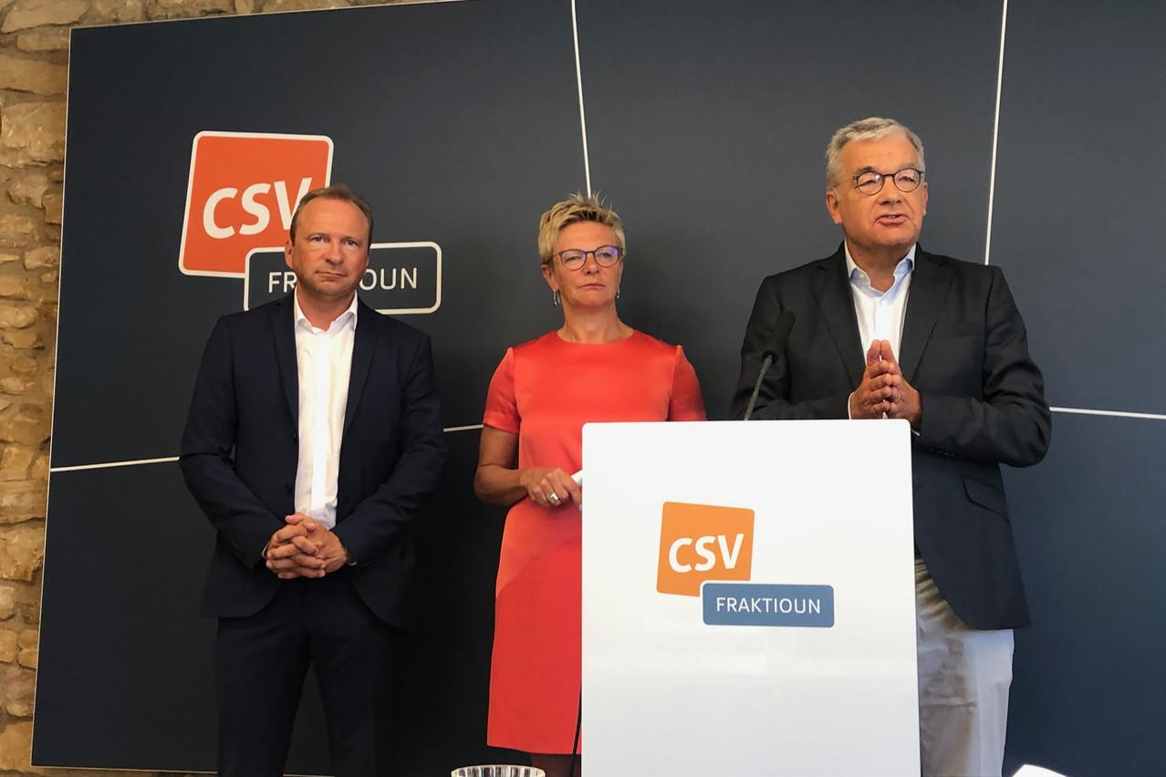 Gilles Roth, Martine Hansen et Laurent Mosar veulent une lumière totale sur le dossier du «casier judiciaire bis». (Photo: Maison Moderne)