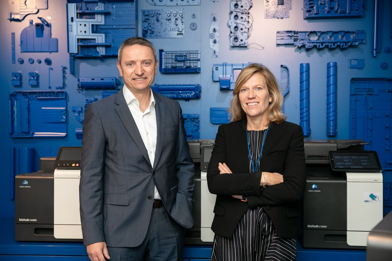 Takeover, international development but also the sports offer: general manager David Gray and partner/general manager of Marketing & Finance Laure Elsen are preparing the future of CK Group. (Photo: Romain Gamba/Maison Moderne)