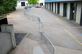 La gestion des flux des élèves a aussi fait partie de la préparation de la rentrée. ((Photo: Matic Zorman / Maison Moderne))