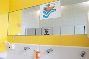 Les sanitaires, un lieu sensible. ((Photo: Matic Zorman / Maison Moderne))