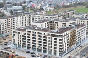 Les résidences du bloc A qui jouxtent le futur parc. ((Photo: Anthony Dehez))