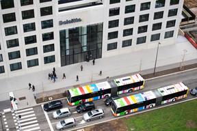 La mobilité est un des enjeux du quartier, en attendant l'arrivée du tram en 2023. ((Photo: Anthony Dehez))
