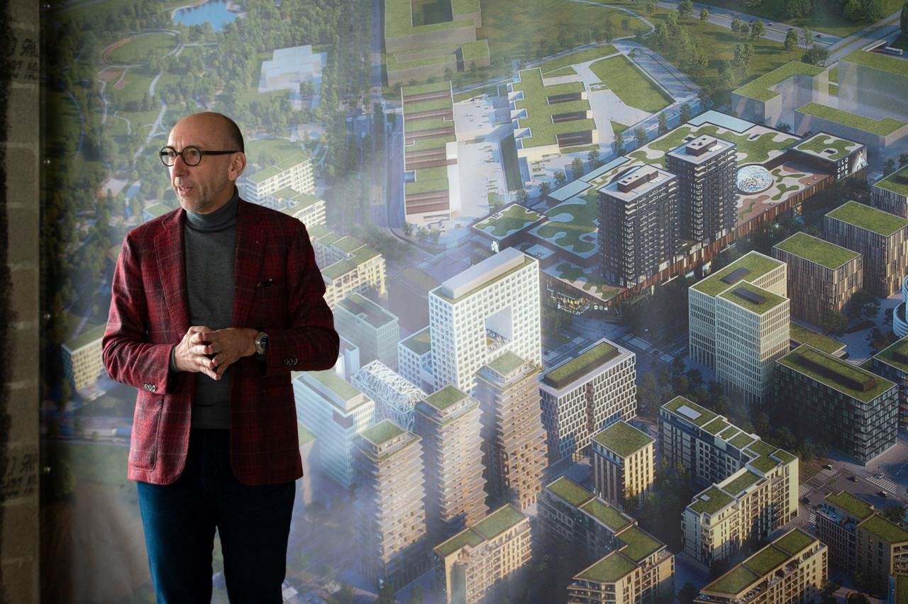 Michel Knepper et les équipes de Gossfeld n'excluent pas une évolution à la hausse du nombre de logements. (Photo: Anthony Dehez)