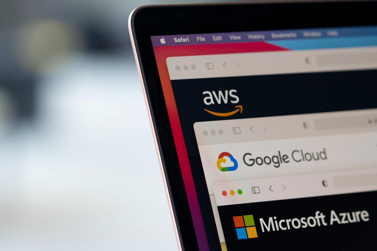 Amazon Web Services, Google Cloud et Microsoft ont attiré l'an dernier 69% des revenus du cloud en Europe. Contre 2% pour le premier européen, Deutsche Telekom. (Photo: Shutterstock)