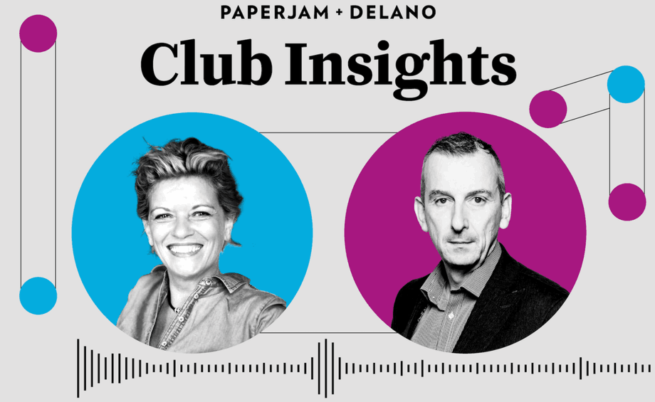 Tanja de Jager is pictured with Paperjam + Delano Club's Jim Kent MM