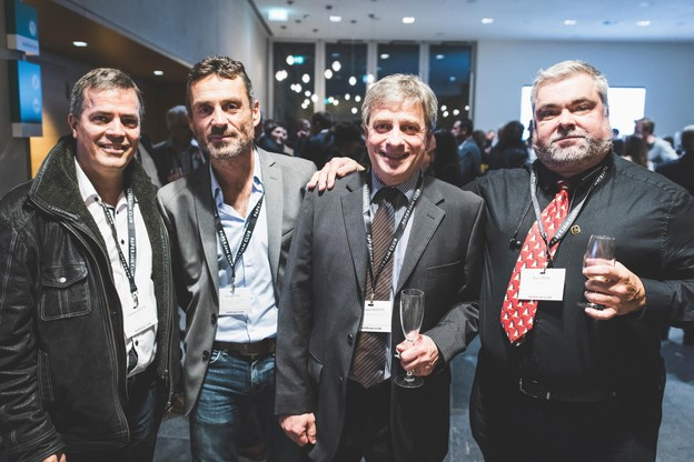 Emmanuel Patte (Abil'I.T.), Fabrice Theis (Atelier d'Architecture Fabrice Theis), Dominique Herickx (TESTA-RH Consulting) et Brent Frère (Abil'I.T.) (Photo: Arthur Ranzy)