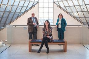 Christian Monjou (Ancien enseignant-chercheur à Oxford), Julie Lhardit (Paperjam + Delano Club) et Suzanne Cotter (Mudam) ((Photo: Simon Verjus/Maison Moderne))