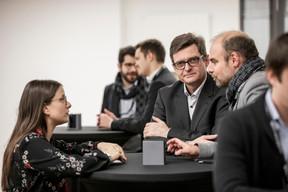 Emilie Bertoni (Paperjam Club), Marc Vanderhoeke (BCEE) et Christophe Biraud (POST) ((Photo: Jan Hanrion / Maison Moderne))