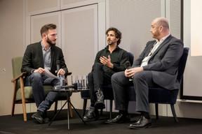 Julien Dickeli (Paperjam Club) ,Cyril Paglino (Starchain Capital - The Garage) et Fabrice Croiseaux (InTech) ((Photo: Jan Hanrion / Maison Moderne))