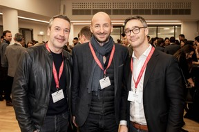 Matthieu Croissandeau , Mathieu Mathelin et Julien Delpy (Maison Moderne) ((Photo: Jan Hanrion / Maison Moderne))