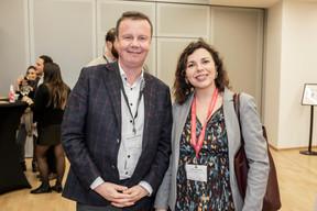 Pierre Yves Defosse (Telindus) et Aurélie Chianese (Maison Moderne) ((Photo: Jan Hanrion / Maison Moderne))