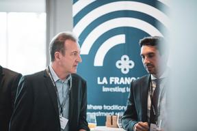 Pascal Dorban (TALK Finance) et Adrien Castellani (CA Indosuez Wealth) ((Photo: Patricia Pitsch / Maison Moderne))