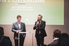 Nicolas Mackel (Luxembourg for Finance) et Matthieu Croissandeau (Maison Moderne) ((Photo: Patricia Pitsch / Maison Moderne))
